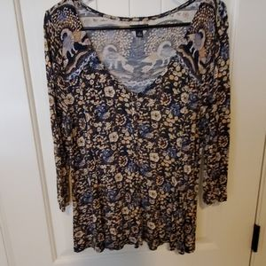 Lucky Brand Floral Soft Top Size Small